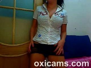 niedlichen Amateur Babe auf Webcam Live-Sex-Show (16)
