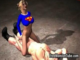 hot 3D-Comic-Superfrau saugt Hahn und bekommt fuckedmsoopergirl-high 2