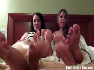 vier sexy Füße für Sie weg mit Jack