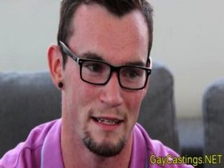 hipster Twink Vorsprechen bei gaycastings