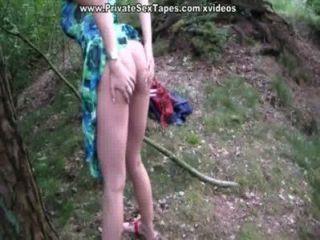mich und meine gf Orgasmus aus dem geilen Fick im Wald bekommen