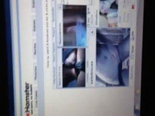 sexy Webcam-Mädchen mit einem großen Schwanz