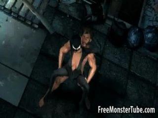 3d Catwoman im Freien von Wolverine gefickt