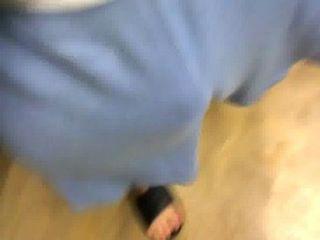 blau freeballing keine Unterwäsche