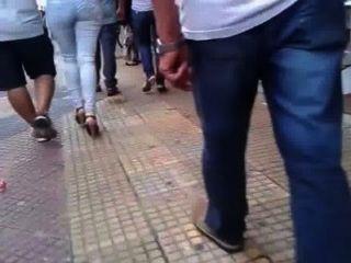 Big Boot brasilianischen Frau mit Ehemann