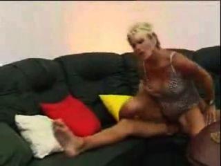 Deutsch blonde Mutter und junger Mann