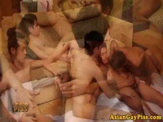 Homosexuell asiatischen pissen Liebhaber haben eine Orgie