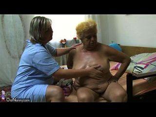 oldnanny Fett große Oma haben ein Geschlecht mit jungen Kerl