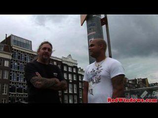 Holländer Hooker gefickt und Cumshot in den Fersen