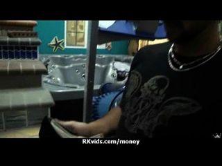 Hooker wird bezahlt und Band für Sex 14