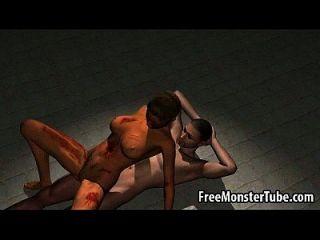 leckere 3d cartoon zombie babe immer hart gefickt