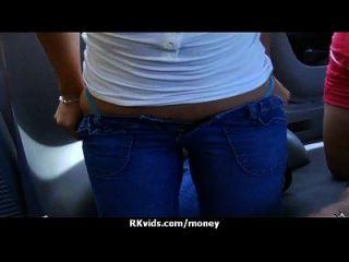 verzweifelt Teenie nackt in der Öffentlichkeit und fickt zu zahlen Miete 3