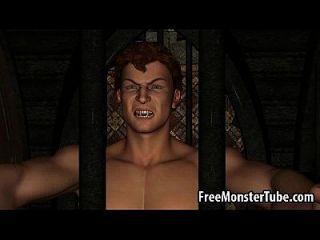Hot 3d Redhead Babe wird hart von einem Vampir gefickt