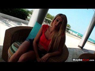 Skinny Blonde College Mädchen Arsch gefickt Amanda Tate 1