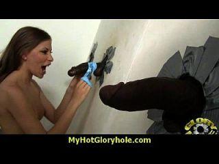 sexy wilde Dame Deepthroats bei Gloryhole 15