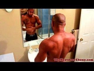 Ebenholz Bodybuilderin
