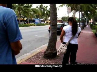 verzweifelt Teenie nackt in der Öffentlichkeit und fickt zu zahlen Miete 21
