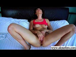 allein geiles Mädchen lieben Sexspielzeug für Masturbation Clip 27