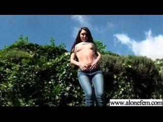 allein geiles Mädchen Liebes Sex Spielzeug für Masturbation Clip 04