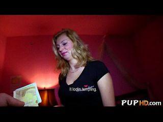 blonde Babe liebt Hahn in öffentlichen Orten Maya Engel 2