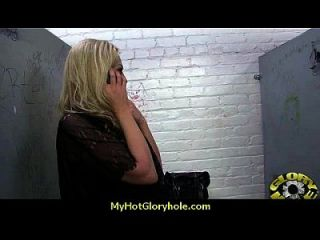 interracial weiße Dame gesteht ihre Sünden am Gloryhole 9