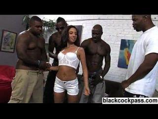 schwarze Bande und gebräunte Teenie-Küken mit kleinen Körper