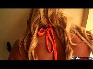 Hot Blonde Strand Babe bekommt Schwanz in ihrem Hintern Eva Cole 1 2