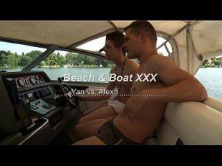 Homosexuelles Wrestling auf Kampfplatz und Boot xxx