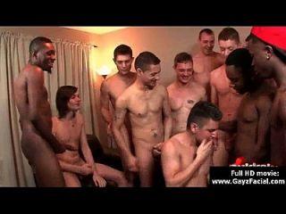 bukkake Homosexuell Jungs böse Bareback Gesichts-Cumshot-Partys 09