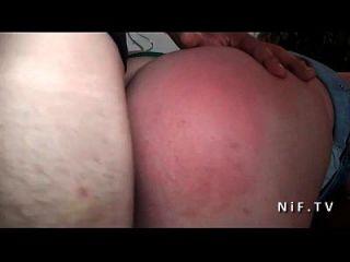 erhabene französische Schlampe hart anal gefickt und doppelt teamed