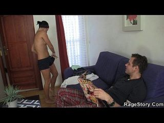 brutaler Blowjob und rauer Sex nach der Dusche