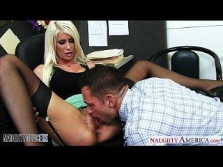busty blonde riley jenner fucking im büro