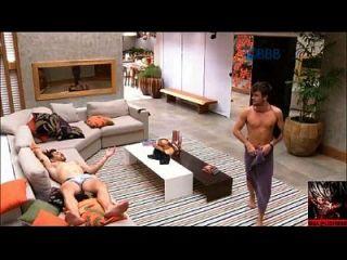 big bruder brasilien bbb rafael fica pelado e mostra o pau, pinto, pênis
