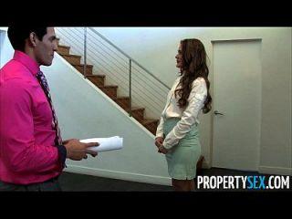 propertysex abby cross ist ein schmutziger Immobilienmakler fucking client