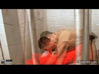 Hottie Schwule im Gefängnis ficken