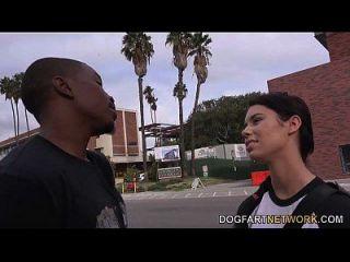 Brooklyn Rose fickt einen schwarzen Kerl vor ihrem Schritt Papa