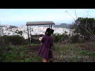 nackt in san francisco: rosalind masturbiert und spielt in der Öffentlichkeit