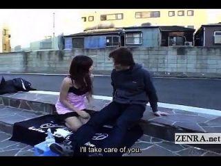 Untertitel extreme japanische öffentliche Nacktheit im Freien Blowjob