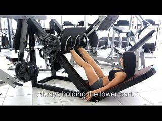 eva andressa super sexy Workout Beinpresse
