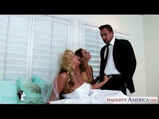 sexy babes jada stevens und phoenix marie teilen Hahn bei der Hochzeit