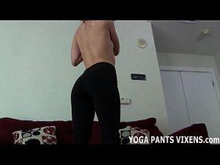 reibe deinen harten Schwanz auf meine weiche Yogahose joi