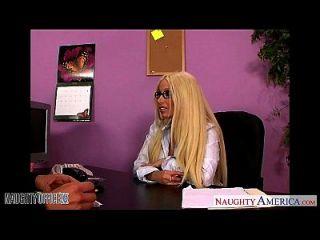 Büro Babe in Gläser Gina Lynn Ficken
