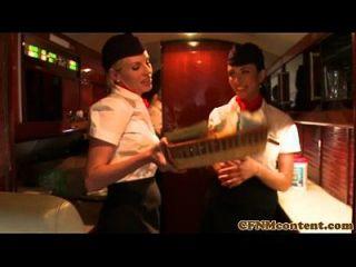 femdom cfnm stewardesses fuck unhöflicher Passagier
