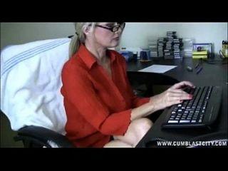 Computer Handjob und Cumshot