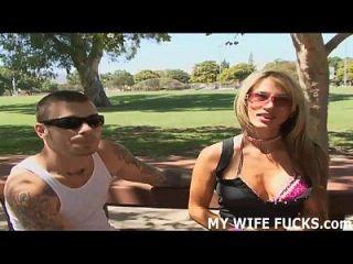 Du wirst lieben, deine Frau zu sehen, nimmt einen großen Schwanz