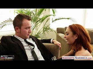 sexy redhead ashlee graham fucking auf der couch