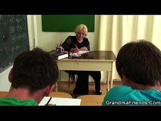 alte Dreier im Klassenzimmer