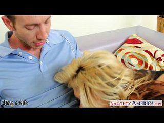 big assed blonde Frau sarah vandella Reiten einen großen Schwanz