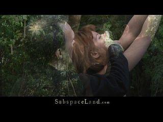 lora in den wald zurückhaltend, um verprügelt und gefickt zu werden