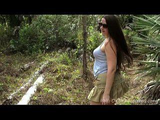 Milf bekommt Gesichtsbehandlung im Wald. madisin lee in der 21. Geburt des Muttertags